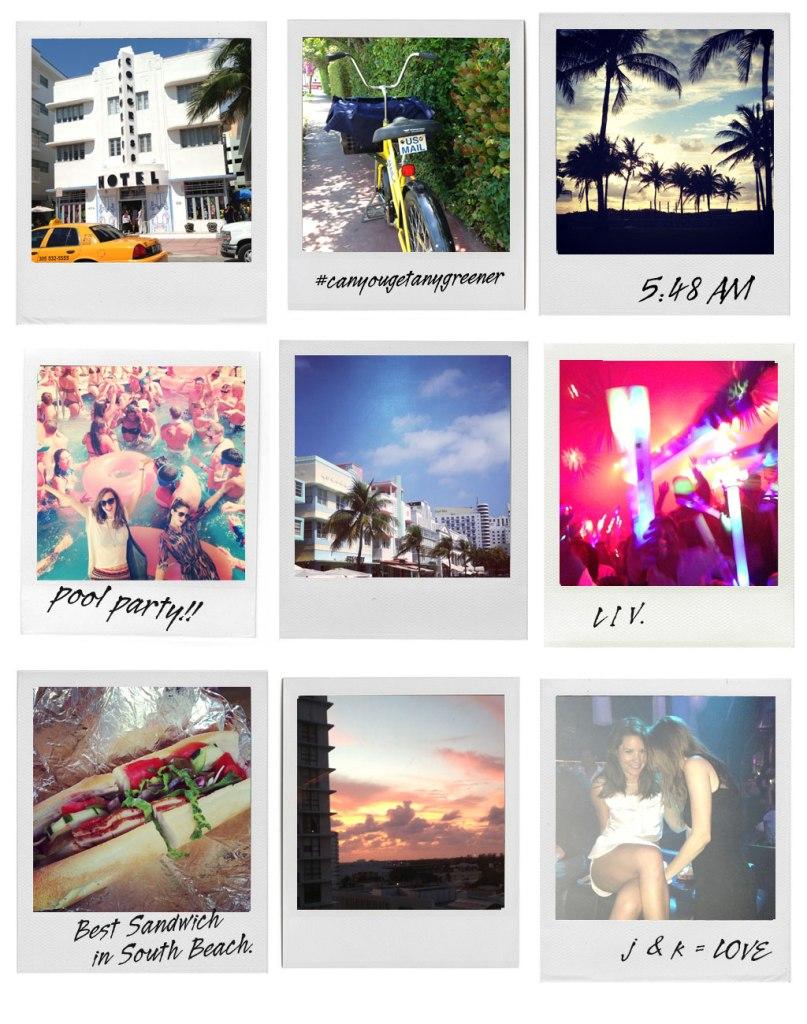 Miami Polaroid Grid