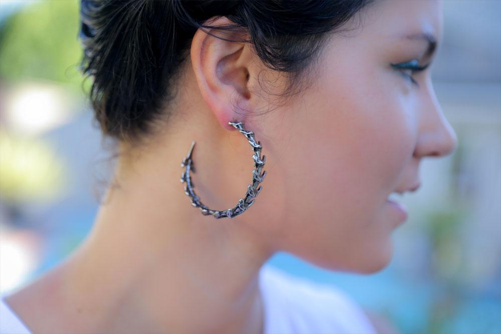 Sharktooth Hoop Earrings