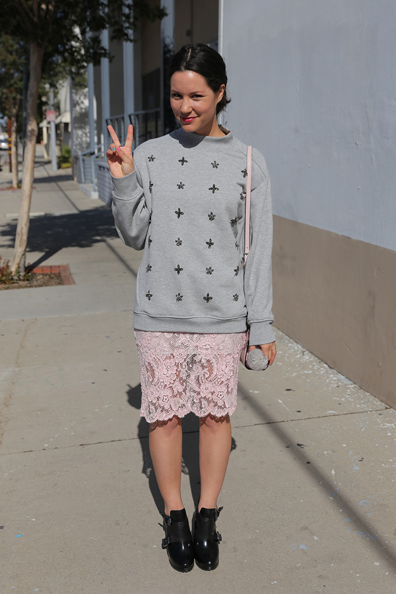 vintage-lace-skirt-embellished-sweatshirt-booties-4