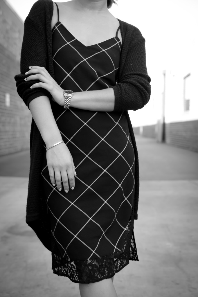 plaid dress bw-3